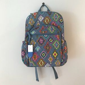 Vera Bradley Campus Tech Backpack and Lanyard